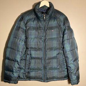 Tommy Hilfiger tartan checkered plaid puffer coat